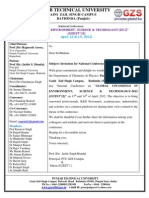 "National Conference on ""GLOBAL UPCOMINGS IN ENVIRONMENT, SCIENCE & TECHNOLOGY-2012 (GUEST'12)"" on 13th and 14th of April, 2012 (Invitation Letter GUEST'12)"