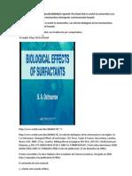 In Spanish. The book that is useful to universities. Los efectos biológicos de los tensioactivos.Detergents, environmental hazards