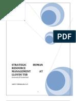 Strategic Human Resource Management at Lloyds TSB