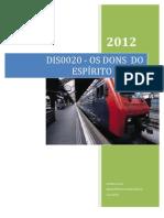 DIS0020 - DONS    DO    ESPÍRITO    SANTO