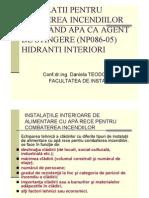 Curs 6 Hidranti Int Instalatii Sanitare
