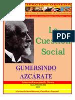 Libro No. 303. La Cuestión Social. Azcárate, Gumersindo. Colección Emancipación Obrera. Febrero 11 de 2012