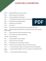 Cronologia de La Escritura