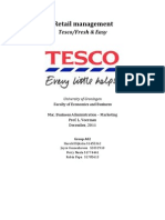 Retail Marketing Assignment 1 Tesco Fresh & Easy Group A2