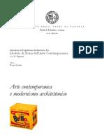 Arte contemporanea e modernismo architettonico