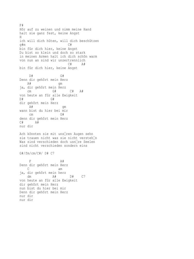 Gehört mein hochzeit dir herz songtext Übersetzung Ana