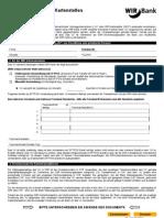 Zahlen - Vereinbarung für WIR-Kartenstellen