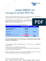 Finanzieren - Variable Hypothek WIR-CHF Mit Vorzugszins
