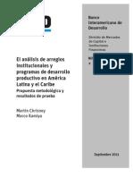 M.Chrisney -  M.Kamiya - IADB - El análisis de arreglos institucionales y programas de desarrollo productivo en América Latina
