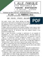 Lettera alle Famiglie - 12 febbraio 2012