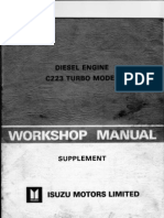 ISUZU C223 Turbo W Shop Manual