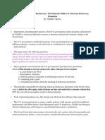 Pol 243 Spence Reading Summary