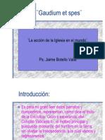 Encíclica Gaudium et spes. Jaime Botello Valle