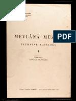 Mevlana Müzesi Yazmalar Katoloğu-1