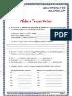 Verbos - exercícios flexão tempos e modos (blog8 10-11)