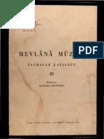 Mevlana Müzesi Yazmalar Katoloğu-3