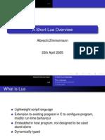 A Short Lua Overview