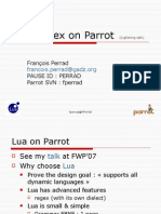 Lua Regex on Parrot