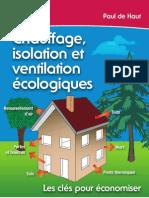 Chauffage, isolation et ventilations écologiques