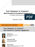 Ratepayer to Customer Best Practices Feb 2012