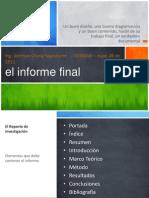 Clase 016a-El Informe Final
