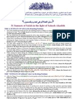51 Sunnats of Salah in the Light of Saheeh Ahadith