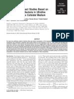 E.coli and ZnO Nano Particles