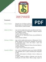Programa - Encontro da FEB na Itália