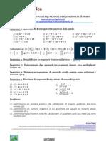 Foglio Di Lavoro Sulle Equazioni e sulle Disequazioni Di Secondo Grado