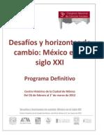 Programa Del Congreso Nacional de Ciencias Sociales 2012