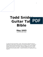 Todd Snider Guitar Tab Bible | Song Structure | Tavern