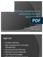 Quantifying and Forecasting Uncertainty in Innovation Project Management - Dr. Jose A. Briones
