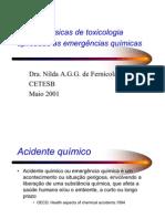 Noções básicas de toxicologia  aplicadas as emergências químicas