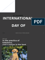 National Tolerance Day