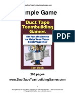 Duct Tape Team Building Games Sample Game 2