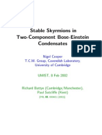 Nigel Cooper, Nigel Cooper and Paul Sutcliffe- Stable Skyrmions in Two-Component Bose-Einstein Condensates