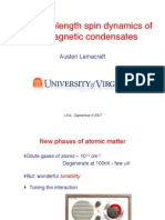 Austen Lamacraft- Long wavelength spin dynamics of ferromagnetic condensates