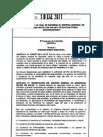 Ley1438-2011-Reforma Al Sistema de Salud