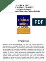 O Código de Órion (A Profecia de Órion) - Patrick Geryl