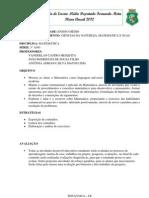 PLANO ANUAL DE MATEMÁTICA 3º ANO ESCOLA FERNANDO MOTA