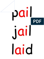 'Ai' 'Ee' Word Flashcards