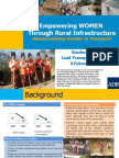 Empowering Women Through Rural Infrastructure