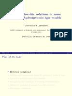 Vsevolod Vladimirov- Compacton-like solutions in some nonlocal hydrodynamic-type models
