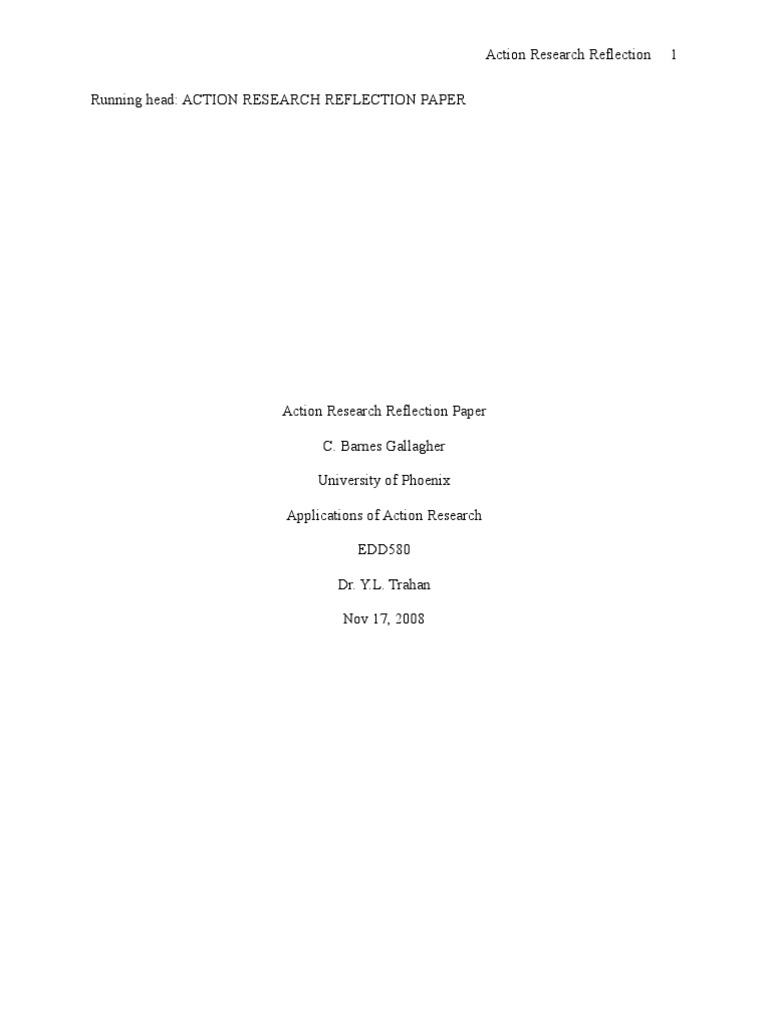 research reflection essay