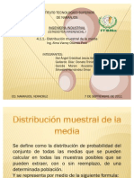 Distribucion Muestral de La Media