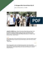 Kliping Berita Perumahan Rakyat dari Media Online, 13 Februari 2012