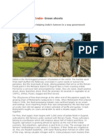 Agribusiness in India- GREEN SHOOTS