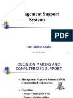 Decision Support Systems - Management Support Systems