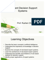Management Support Systems - Intelligent Decision Support Systems