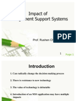 Impacts of Management Support Systems